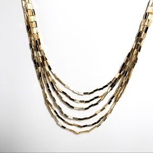 House of Harlow 1960 Jewelry - House of Harlow Six Strand Necklace in Gold